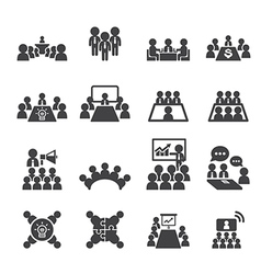 conference and business icon vector image vector image