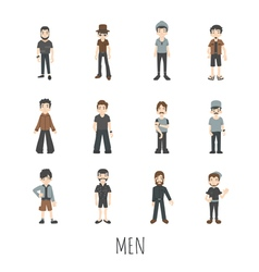 men set eps10 format vector image vector image