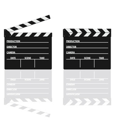 movie clapper with text on it vector image