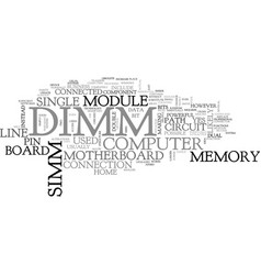 what is a dimm text word cloud concept vector image vector image