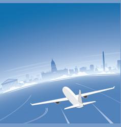 buenos aires skyline flight destination vector image