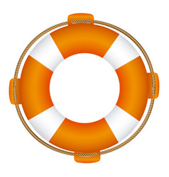 colorful flotation hoop with rope vector image