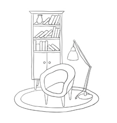 Furniture for the living room vector image vector image