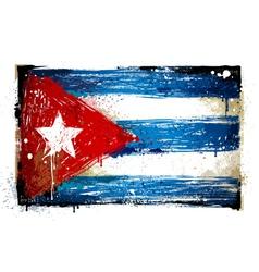 Grungy Cuban flag vector image vector image
