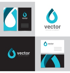 Logo design element with two business cards - 16 vector image vector image
