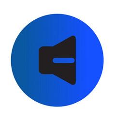 Thin line decrease volume icon vector