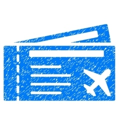 Airtickets Grainy Texture Icon vector image