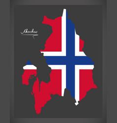Akershus map of norway with norwegian national vector