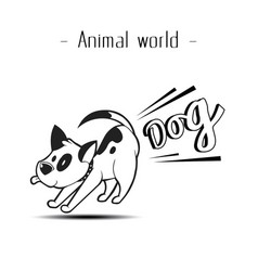 Animal world fart dog background image vector