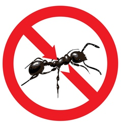 Ants banned Sign prohibited vector image