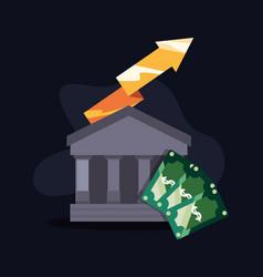 bank money success vector image