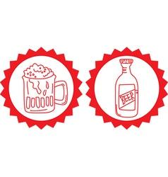 Beers vintage emblem vector