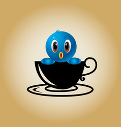 Bird logo coffee vector