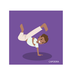 Cartoon of capoeira martial arts with standing vector