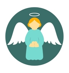 Christmas angel icon flat vector image