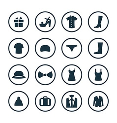 clothes icons universal set vector image