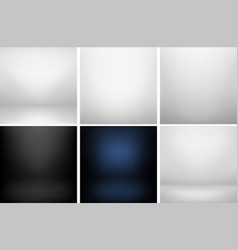 Collection of studio backgrounds vector