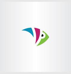 colorful aquarium fish logo icon symbol vector image