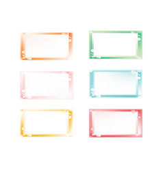 colorful shiny bubbly blurred frames set vector image