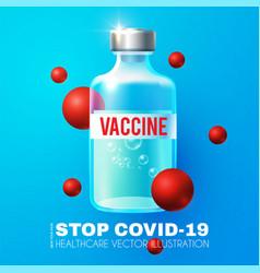 coronavirus vaccine making stop 2019 vector image