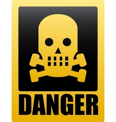 Danger vector image