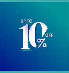 Discount up to 10 off template design vector