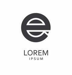 e letter logo icon vector image