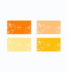 Feminine set covers design soft color background vector