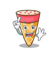 Finger ice cream tone mascot cartoon vector