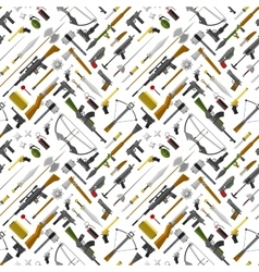 Flat seamless pattern weapons format vector image