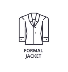 formal jacket line icon outline sign linear vector image vector image