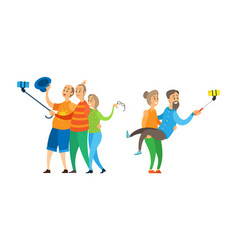 friends or family photo people and selfie vector image