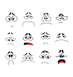 funny cartoon eyes set vector image
