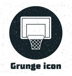 Grunge basketball backboard icon isolated on white vector
