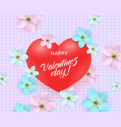 happy valentines day special offer design vector image