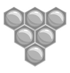 Honeycomb icon gray monochrome style vector image