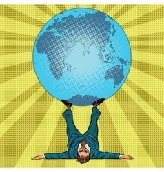 International policy concept man and Earth vector image