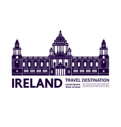 Ireland travel destination grand vector