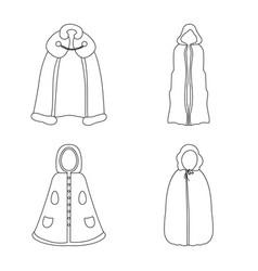 isolated object robe and garment logo vector image