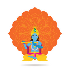 Krishna hindu god or deity vector