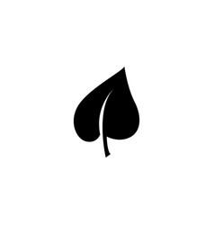 leaf eco organic nature foliage flat icon vector image