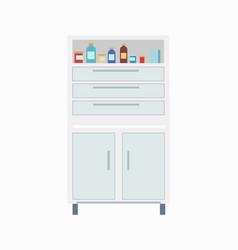 locker with medicine icon vector image