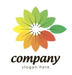 Logo colorful plants vector