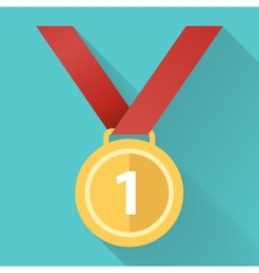medal flat icon vector image