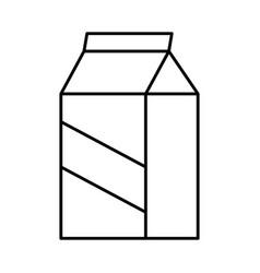 Milk box icon vector