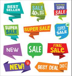 Modern sale stickers 01 vector