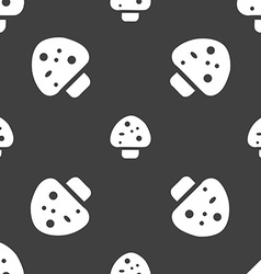 mushroom icon sign Seamless pattern on a gray vector image