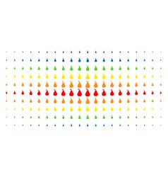 pear spectrum halftone pattern vector image