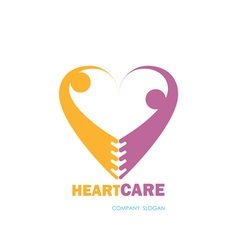 People and Heart logo vector image