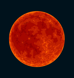 red blood full moon on black background vector image